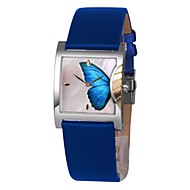 TIME100 Fashion Luxury Shell Dial Jewelry Bracelet Butterfly Leather Strap Couples Watches(Assorted Colors)