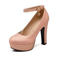 Chaussures Femme - Habillé - Noir / Bleu / Rose / Argent / Orange - Gros Talon - Bout Arrondi - Talons - Faux Daim