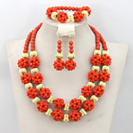 2015 Latest Fashion Nigerian Crystal Beads Balls Necklace Set Women Party Beads Jewelry Set