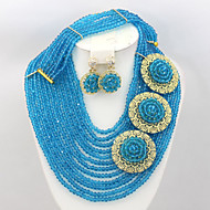 African Nigerian Wedding Beads Necklace Set African Jewelry Set Costume