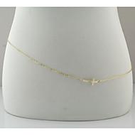 sexy Golden Cross chaîne du ventre du corps des femmes