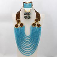 Wedding Nigerian Beads Jewelry Set 2015 New Design Costume Jewelry Set