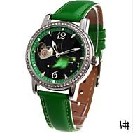 TIME100 Women's Twelve-Constellation Automatic Mechanical Leather Strap Diamond Ladies Quartz Watchs(Assorted Colors)