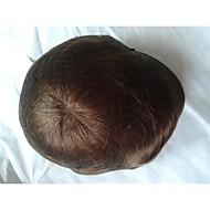 """8 """"x10"""" indická barva vlasů # 4 hnědá tupé vlasy náhradní systém pánské"""