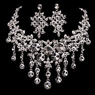 Conjunto de jóias Mulheres Aniversário / Casamento / Noivado / Presente / Ocasião Especial Conjuntos de Joalharia Liga StrassColares /
