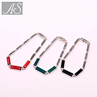 AS 925 Silver Jewelry Square Bracelet