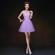 Homecoming A-line/Princess One Shoulder Short/Mini Bridesmaid Dress(068)