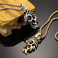 Pánské Náhrdelníky s přívěšky Titanová ocel Pozlacené 18K zlatá Stříbrná Zlatá Šperky Svatební Párty Denní Ležérní Sport 1ks