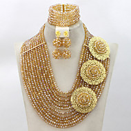 Crystal Beads Jewelry Set 2015 Fashion Costume African Jewelry Set