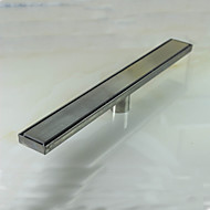 Linear Floor Shower Drain Stainless Steel Adjustable Exit Plain Model