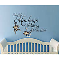 Wall Stickers No More Monkeys Jumping On The Bed Kids Wall Decal