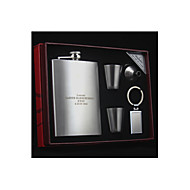 Gift Groomsman Groom/Groomsmen Personalized 5-pieces Quality Stainless Steel 8-oz Flask Gift Set