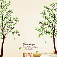 adesivos de parede adesivos de parede, árvore verde parede pvc adesivos