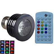 4W E14 GU10 B22 E26/E27 LED bodovky MR16 1 High Power LED 500 lm R GB Stmívací Aktivovaná zvukem Dálkové ovládání Ozdobné AC 85-265 V 1 ks