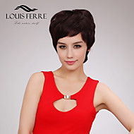 Charming Short Capless Human Hair Wigs with Side Bang