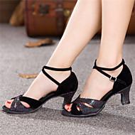 Zapatos de baile ( Negro ) - Danza latina - No Personalizable - Tacón grueso