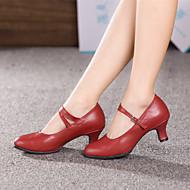Chaussures de danse(Noir Rouge Argent Or) -Non Personnalisables-Talon Cubain-Cuir-Moderne Salon