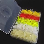 2,5 cm / 0,43 g weicher Fischenköder Made Köder 240pcs 5 Farben grub Würmer