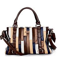 VUITTON® Women PU Duffel Shoulder Bag / Tote - White / Brown
