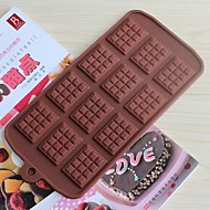 Nádobí na pečení silikonové formy na pečení na čokoládu (náhodné barvy)