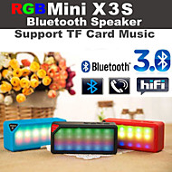 RGB LED Flashing X3 MINI Wireless Bluetooth Speake Audio Music Speaker white Mic TF FM RGB for iPhone6 Samsung S6
