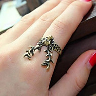 Lucky Star Women's Vintage Bronze Antelope Ring