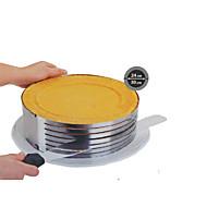 módní kovový kruh nastavitelný šifon z nerezové oceli mousse vrstva kruhadlem Pečení vaření dort SS-43