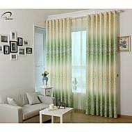 pays curtains® un panneau vert imprimé floral rideau
