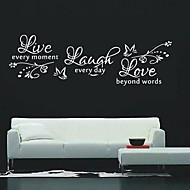 decalques de parede adesivos de parede, citações vida parede pvc adesivos.