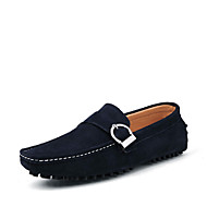 Men's Shoes Office & Career / Party & Evening / Casual Leather Loafers / Slip-on Black / Blue / White