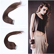 16 polegadas / 40 centímetros 20s / pack 30g / multicolors pacote fita em linha reta na extensão do cabelo grade5a extensão do cabelo humano