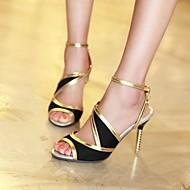 נעלי נשים - סנדלים - דמוי עור - פתוח - שחור / כחול / סגול / אדום / בז' - שמלה - עקב סטילטו