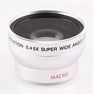 37 milímetros 0.45X lente grande angular com acessório de lente macro para Sony HDR-xr500e hd1000c 520E nikon canon câmera calibre