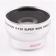 37mm 0.45x vidvinkel linse med makro linse tilbehør til sony hd1000c HDR-xr500e 520E nikon canon kaliber kamera