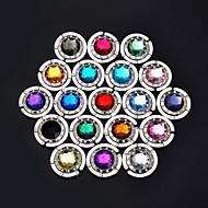 多色水晶hangbagフック財布ハンガーバッグホルダー(ランダムカラー)4.5 * 4.5 * 2センチメートル