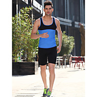 arco-íris folha de plátano novo colete de fitness moda high-end yoga e musculação colete luz azul / verde dos homens