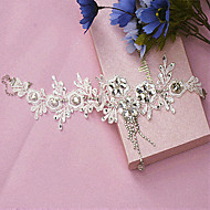 Capacete Flores Casamento Renda/Strass Mulheres Casamento
