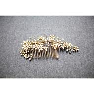 Elegant Women Rhinestone/Crystal/Alloy Hair Combs/Flowers With Wedding/Party Headpiece