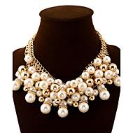 Γυναικεία Κολιέ Δήλωση Κοσμήματα Μαργαριτάρι Προσομειωμένο διαμάντι ΚράμαΜοντέρνα Ευρωπαϊκό κοσμήματα πολυτελείας Κοσμήματα με στυλ