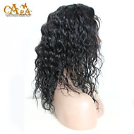 """8 """"-26"""" Peruaanse maagd haar natuurlijke golving lijmloze volledige kant pruik kleur zwart met baby haar voor zwarte vrouwen"""
