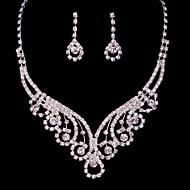 Alloy Hollow Wedding/Party Jewelry Set With Rhinestone