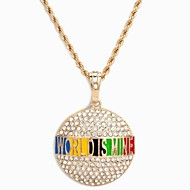 "Fashion Hip hop ""World Is Mine"" Necklace with 90 cm long chain"