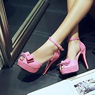 Sandály - Koženka - Podpatky / S otevřenou špičkou - Dámská obuv - Černá / Modrá / Zelená / Růžová - Šaty - Vysoký