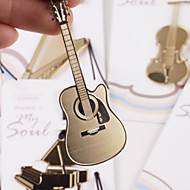 Guitar Shaped Stainless Steel Bookmark