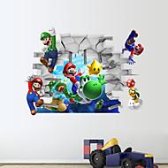 3D-Wandaufkleber Wandtattoo, Super Mario PVC-Wandaufkleber