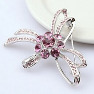 Women's Alloy Brooches & Pins With Crystal/Rhinestone (More Color)