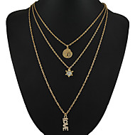 Alloy of 2015 New Arrival Gold Plated Multi Layer Necklace Jewelry for Women