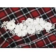 Capacete Flores Casamento/Ocasião Especial Renda/Crostal/Imitação de Pérola Mulheres/Menina das Flores Casamento/Ocasião Especial