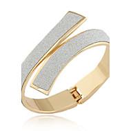 Women's European Style Concise Fashion Alloy Cuff Bracelet