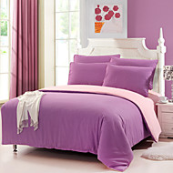 Yuxin® Light Purple Color Cotton Duvet Cover Sets 4 Piece Suit Comfort Simple Modern for Twin Full and Queen Bed Size